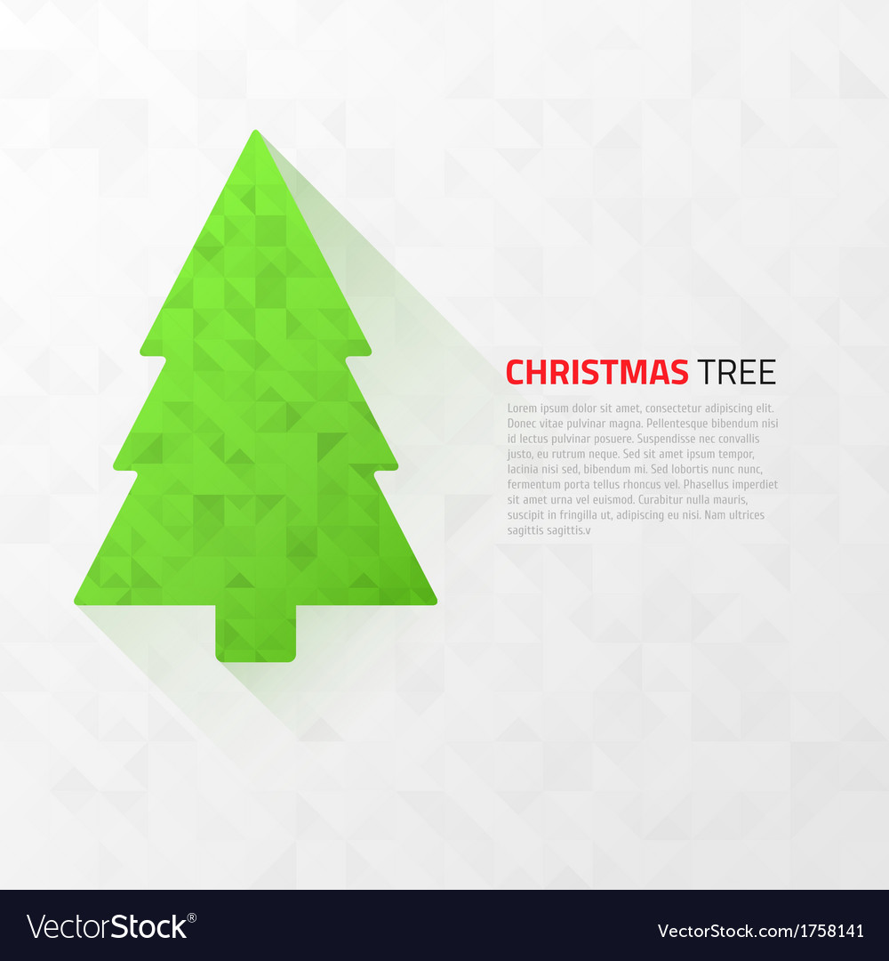 Modern flat christmas tree with triangles