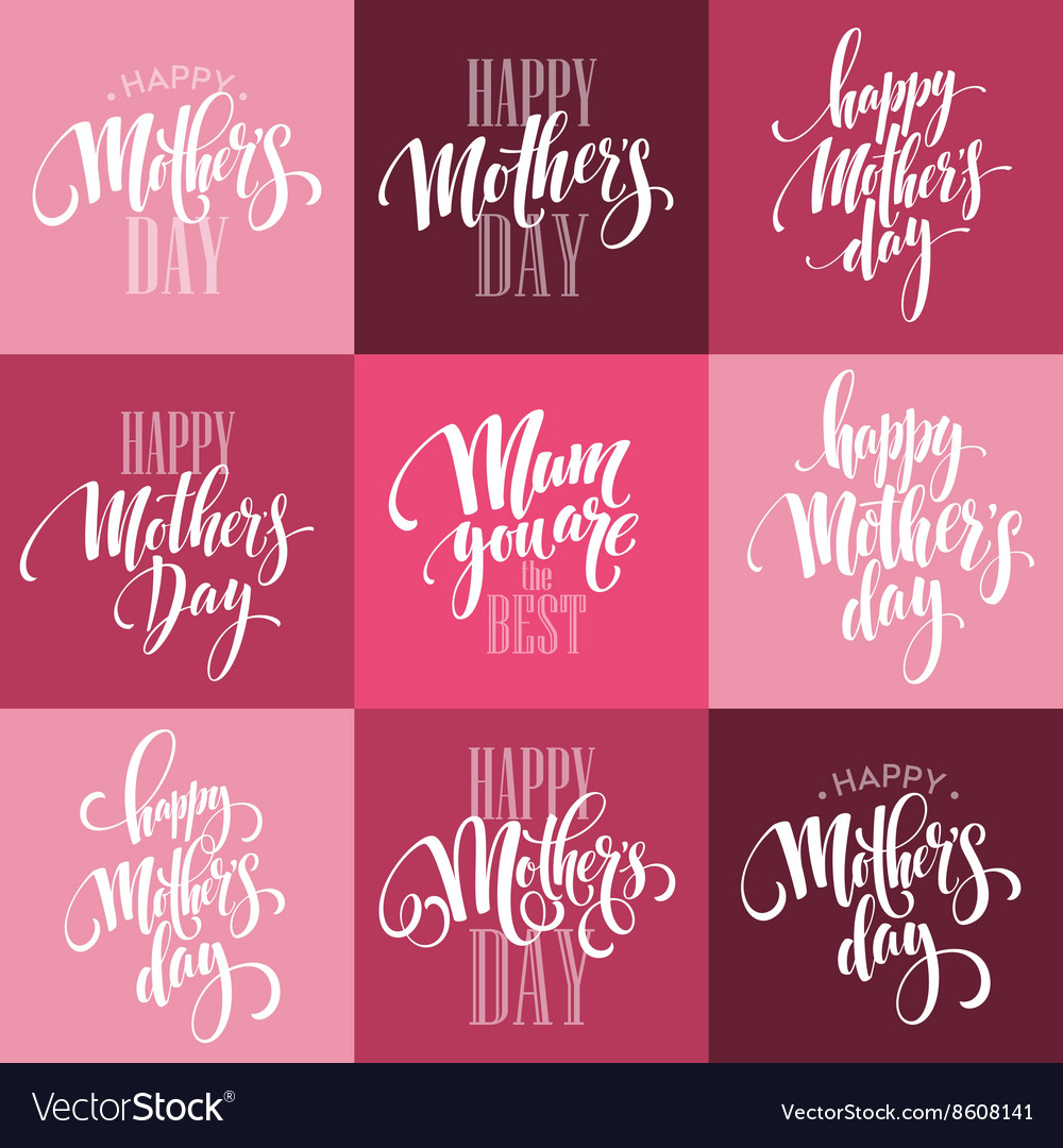 Mothers day greeting card calligraphy