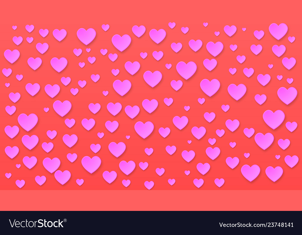 Paper cut romantic background