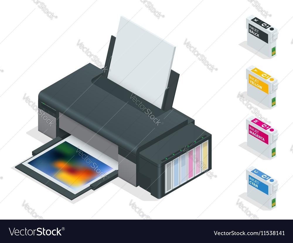 Photo inkjet printer Color printer prints photo