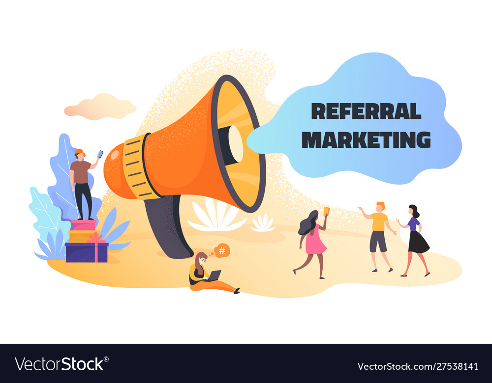 Referral marketing business announcement and