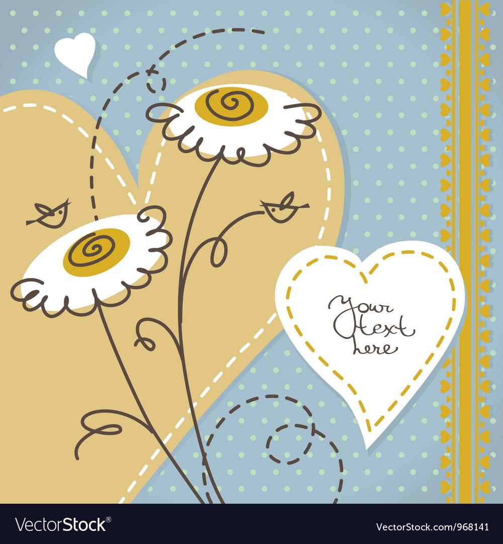 Scrapbook floral background vector image