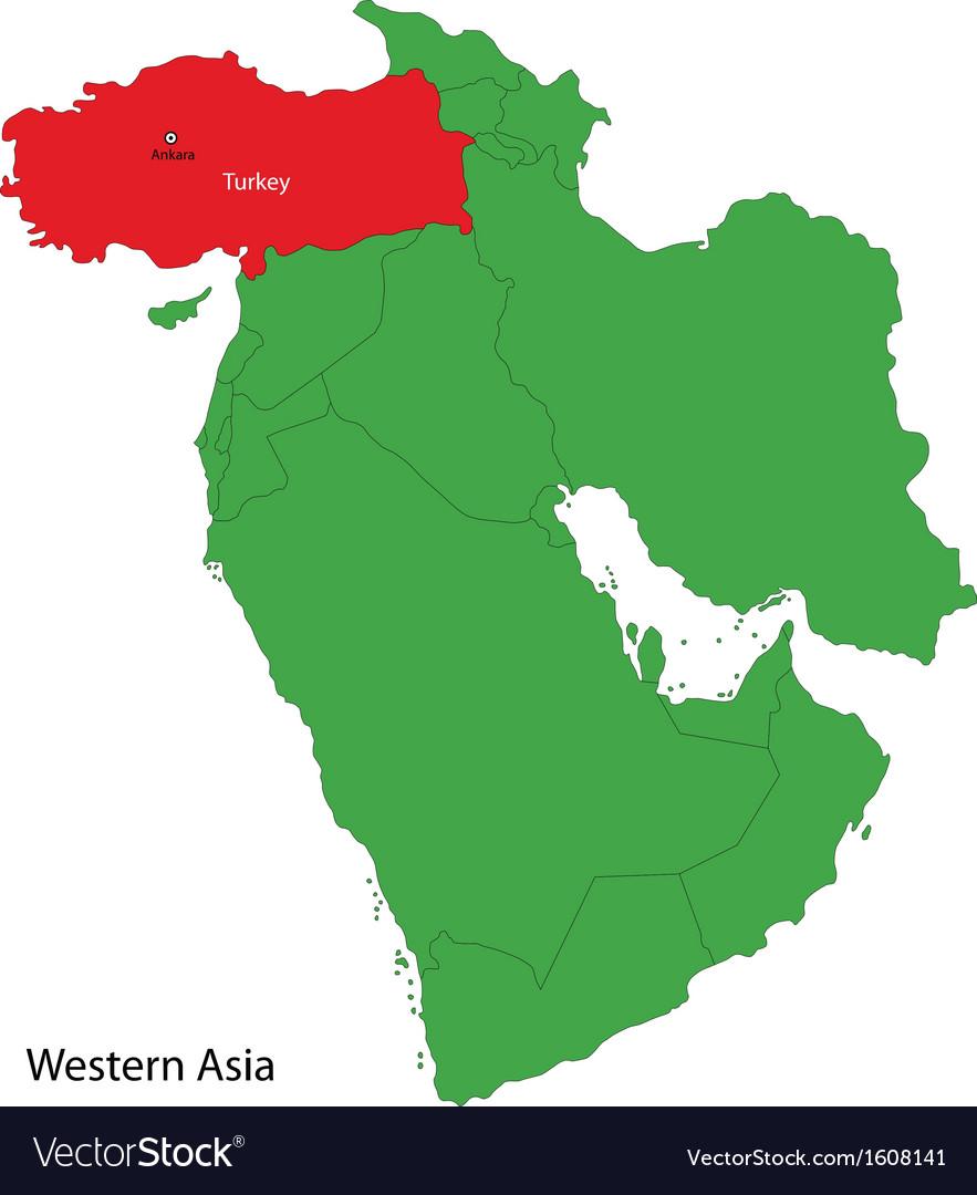 Turkey map Royalty Free Vector Image VectorStock