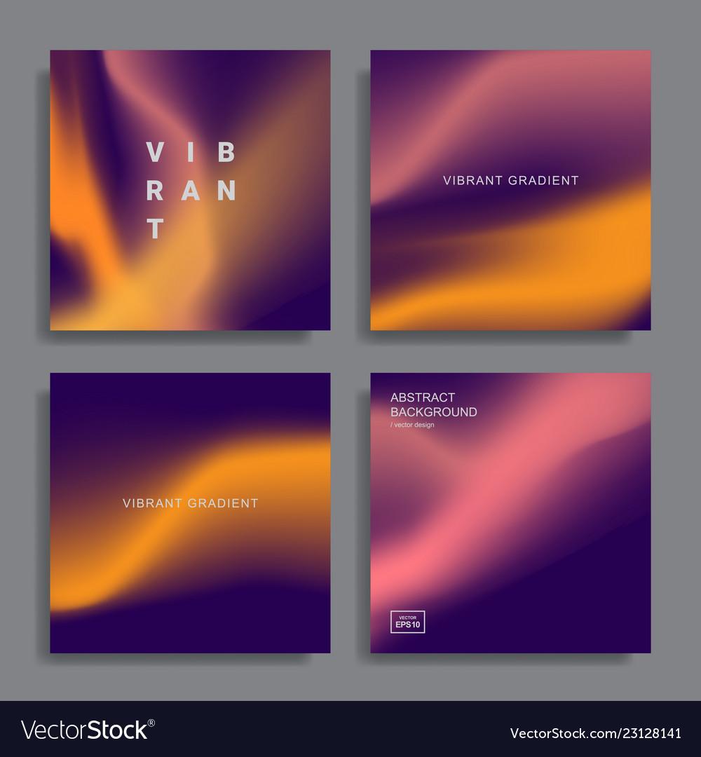 Vibrant gradient backgrounds
