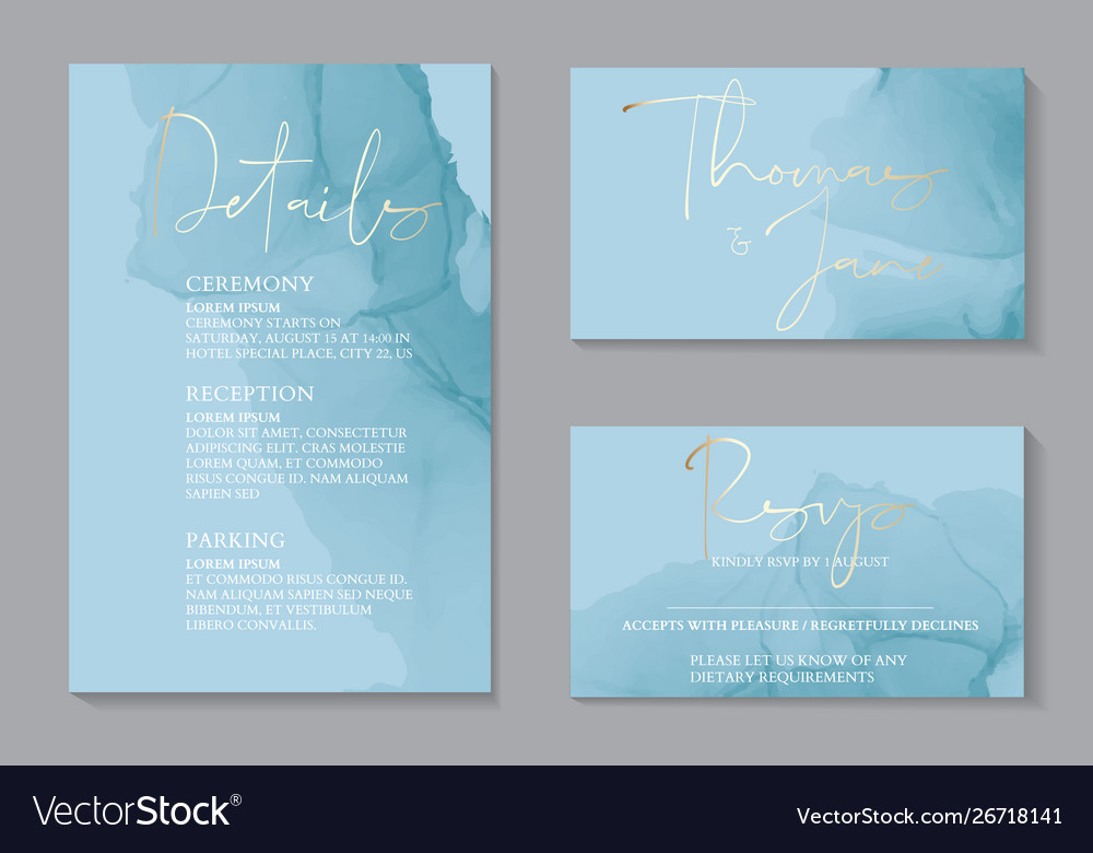 Wedding tender invitations and card template
