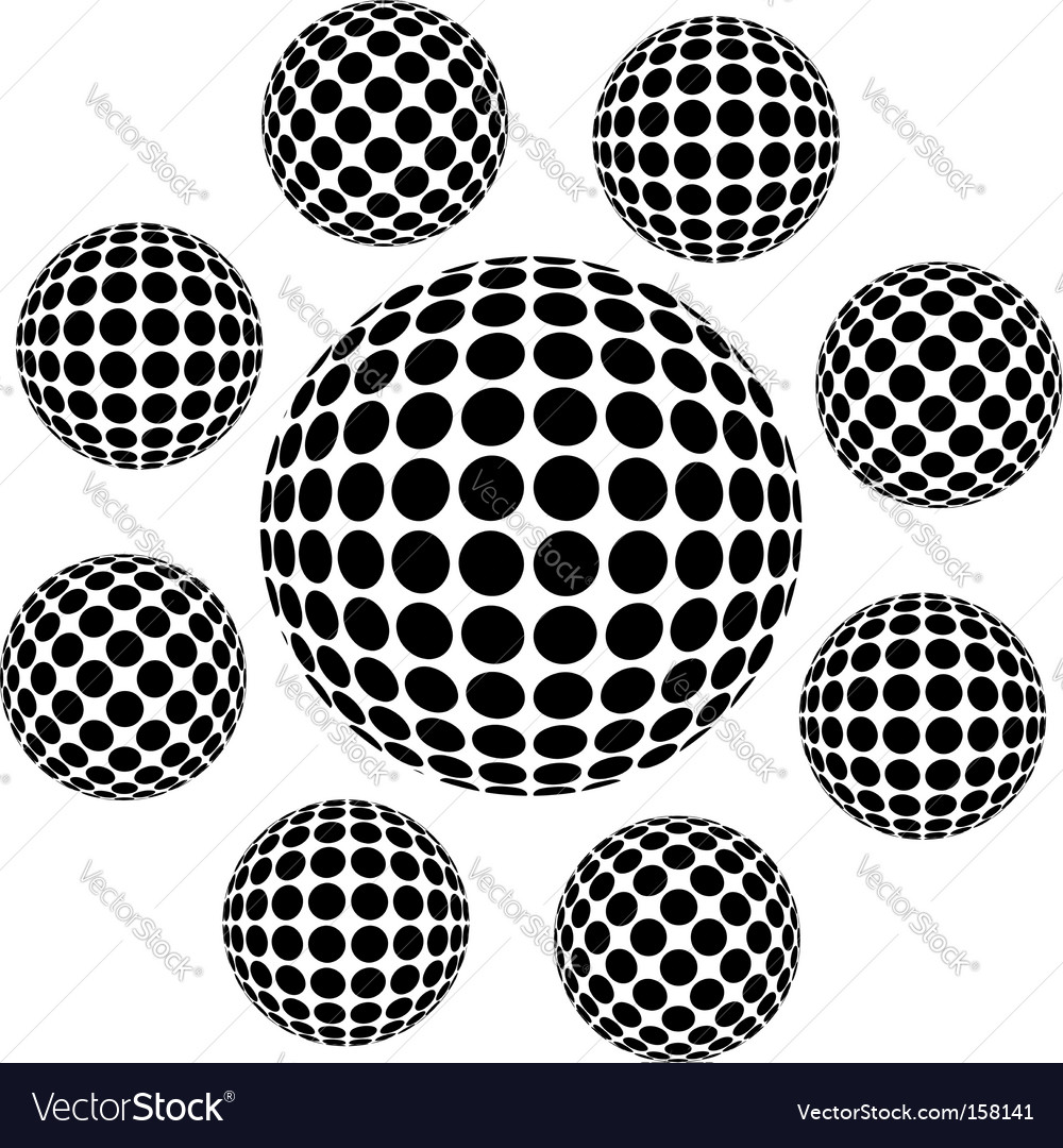 Wireframe vector image