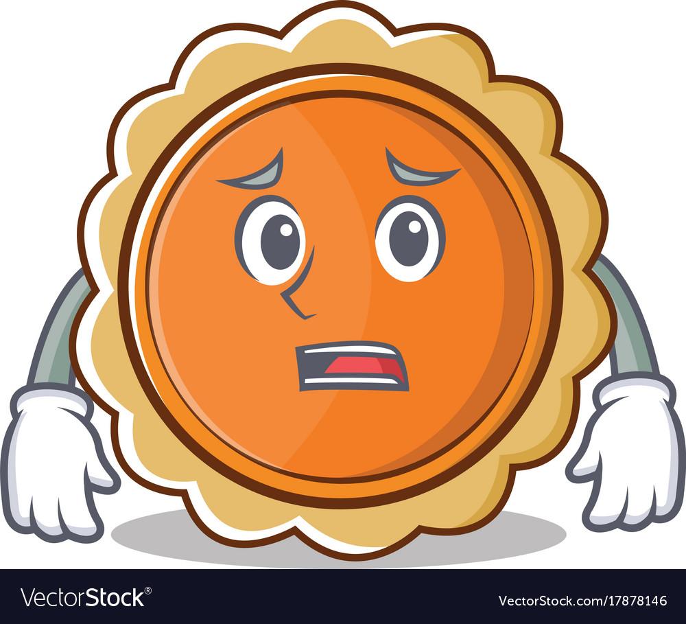 afraid pumpkin pie character cartoon royalty free vector rh vectorstock com Pumpkin Pies Clip Art Pumpkin Pie Drawing