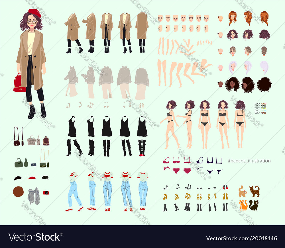 Animate character young lady character