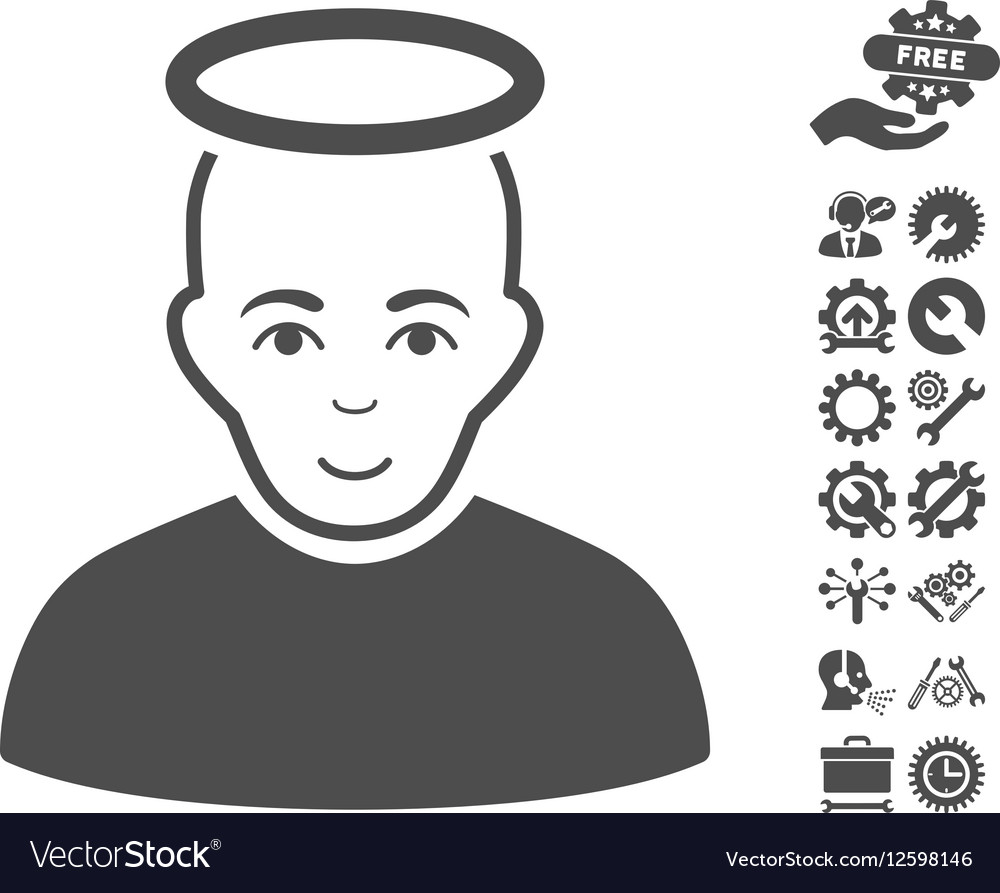 Holy Man Icon With Tools Bonus
