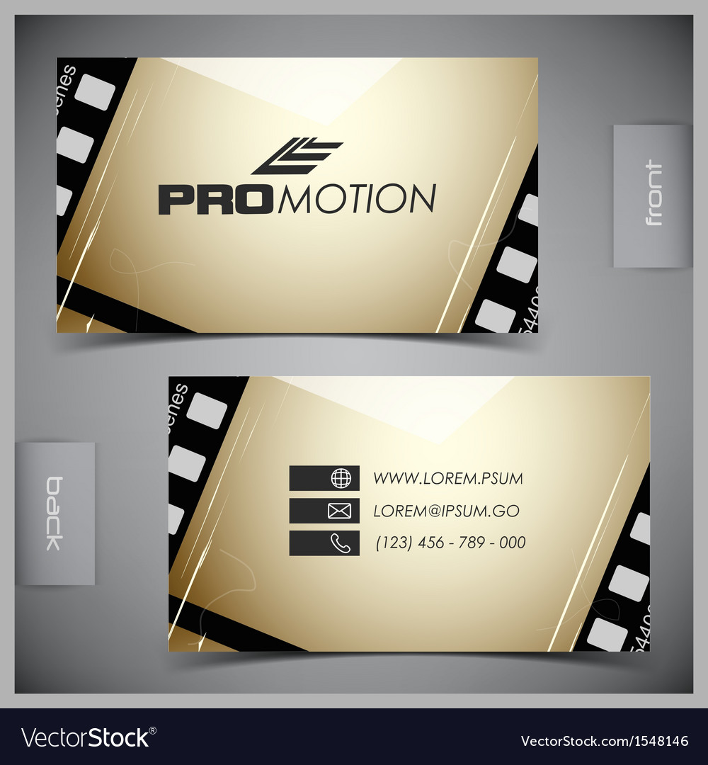Set of creative business cards film Royalty Free Vector