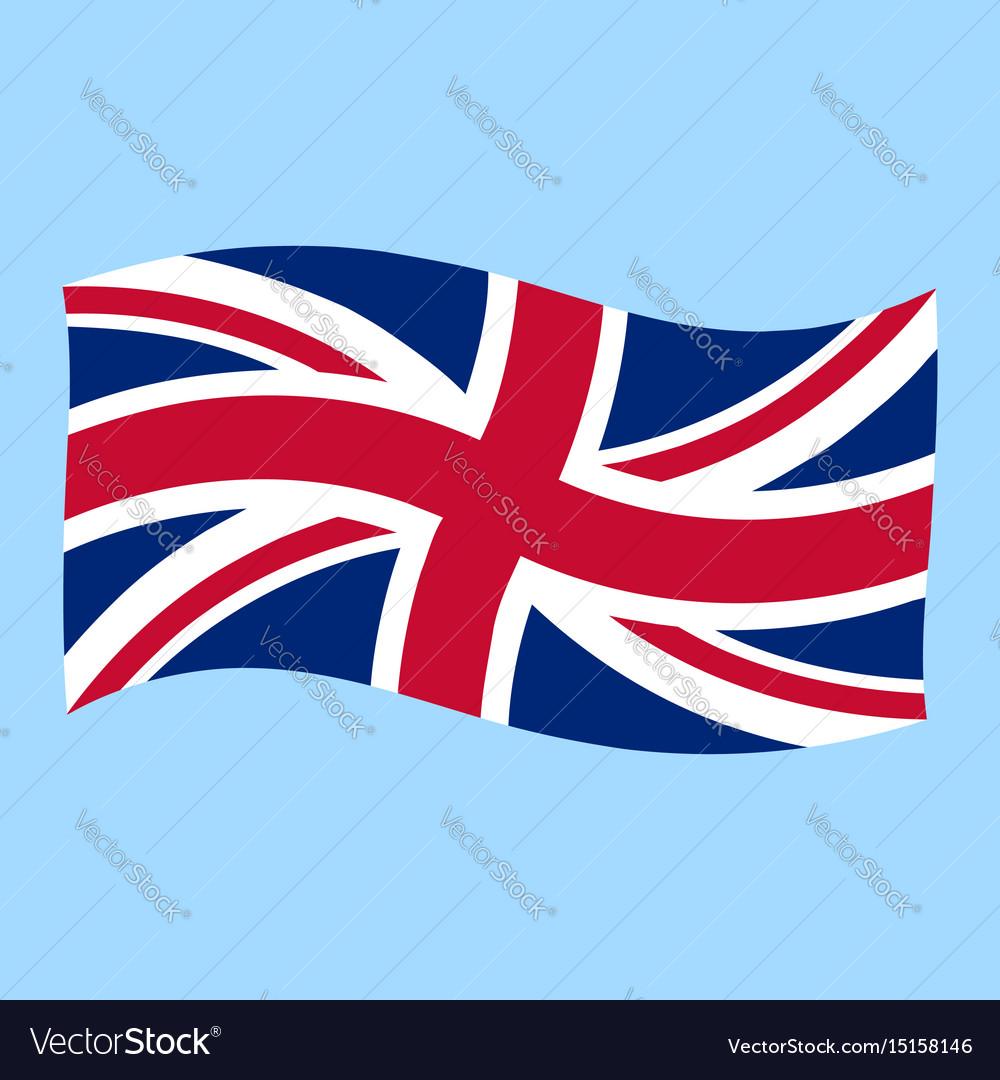 uk union jack flag flying royalty free vector image rh vectorstock com union jack vector free download union jack vector art free