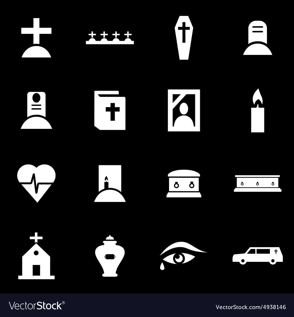 White funeral icon set