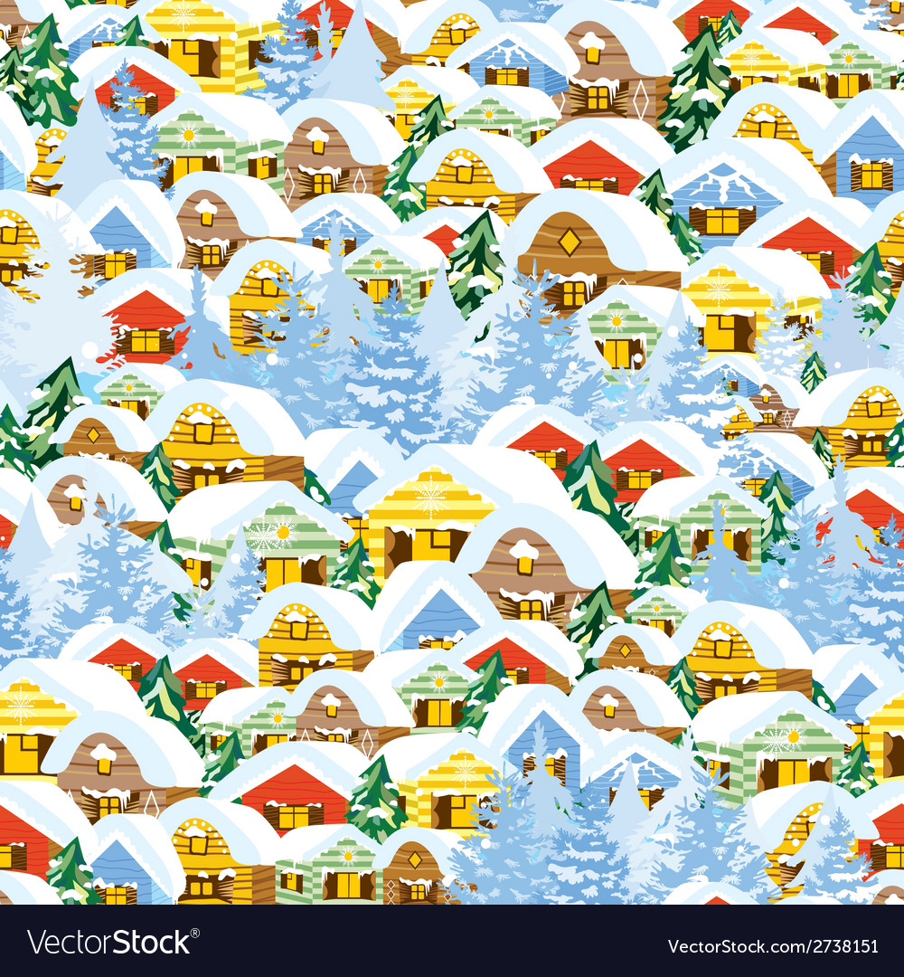 Christmas pattern with houses