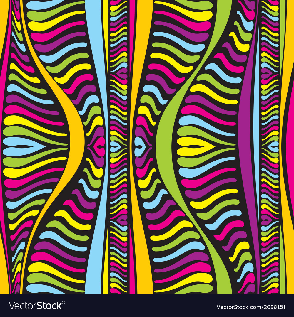 Color abstract African lines