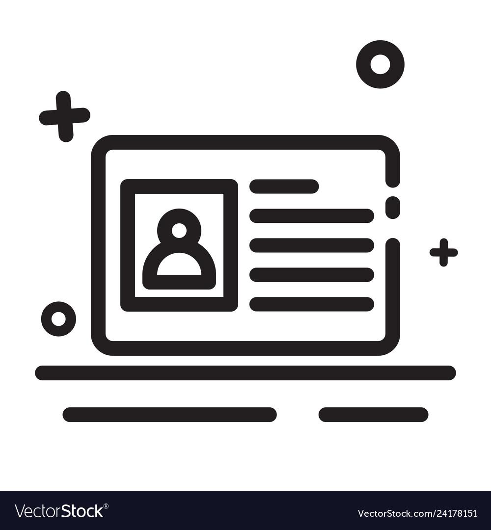 icon identity card icon id card icon modern vector image vectorstock
