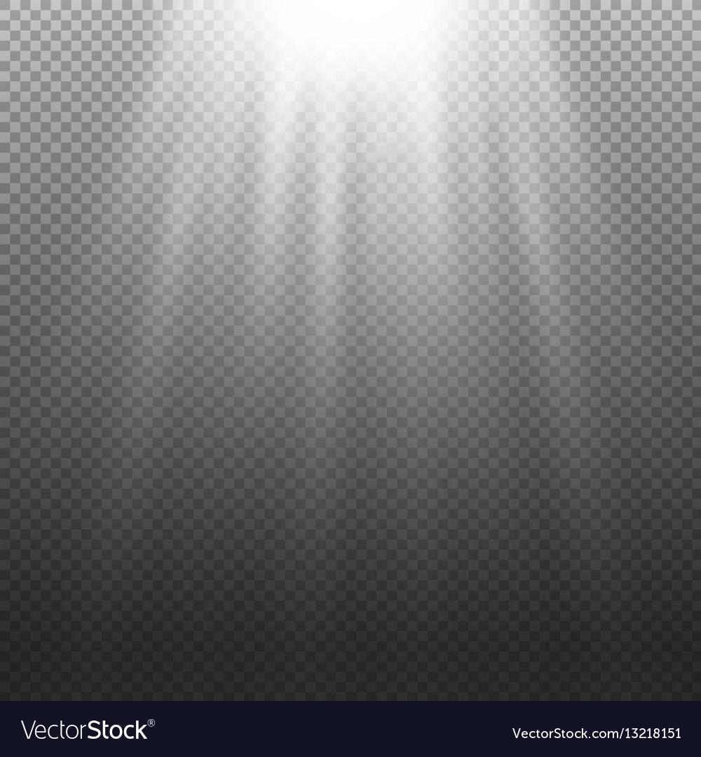 Light effect Rays burst light on transpare