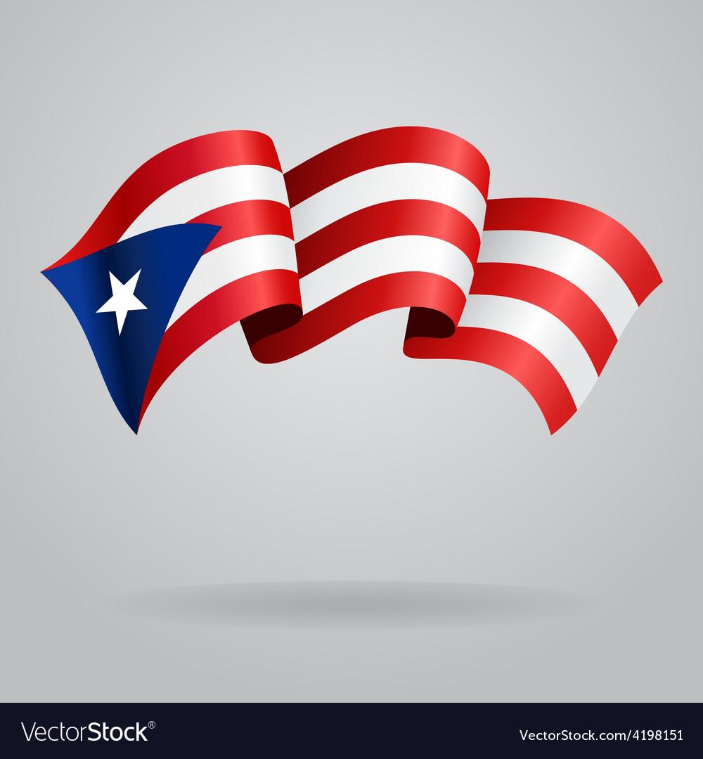 Puerto Rican waving Flag vector image