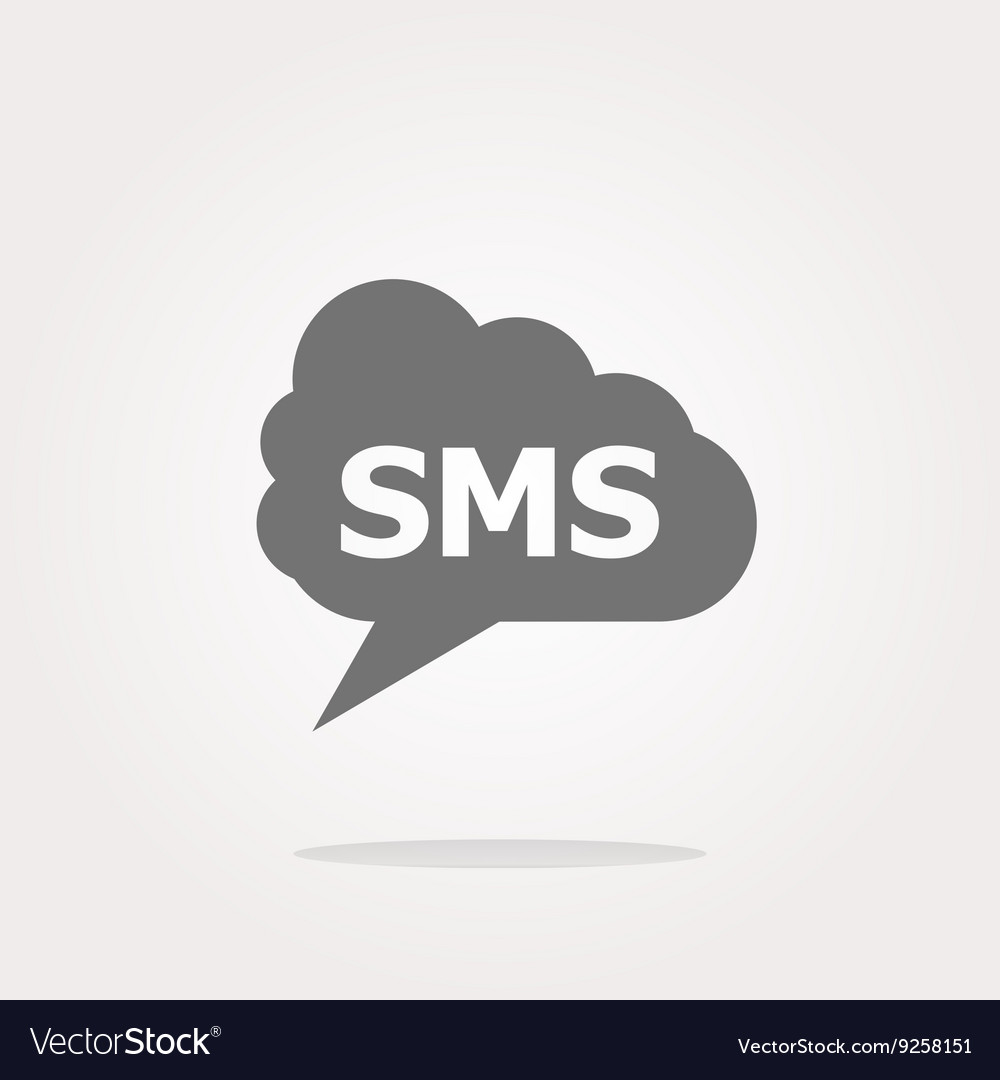 Sms glossy web icon isolated on white
