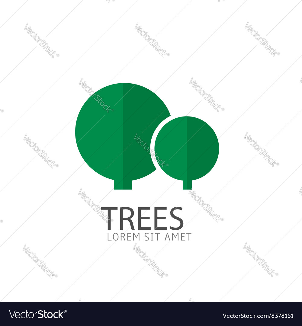 Trees logo template