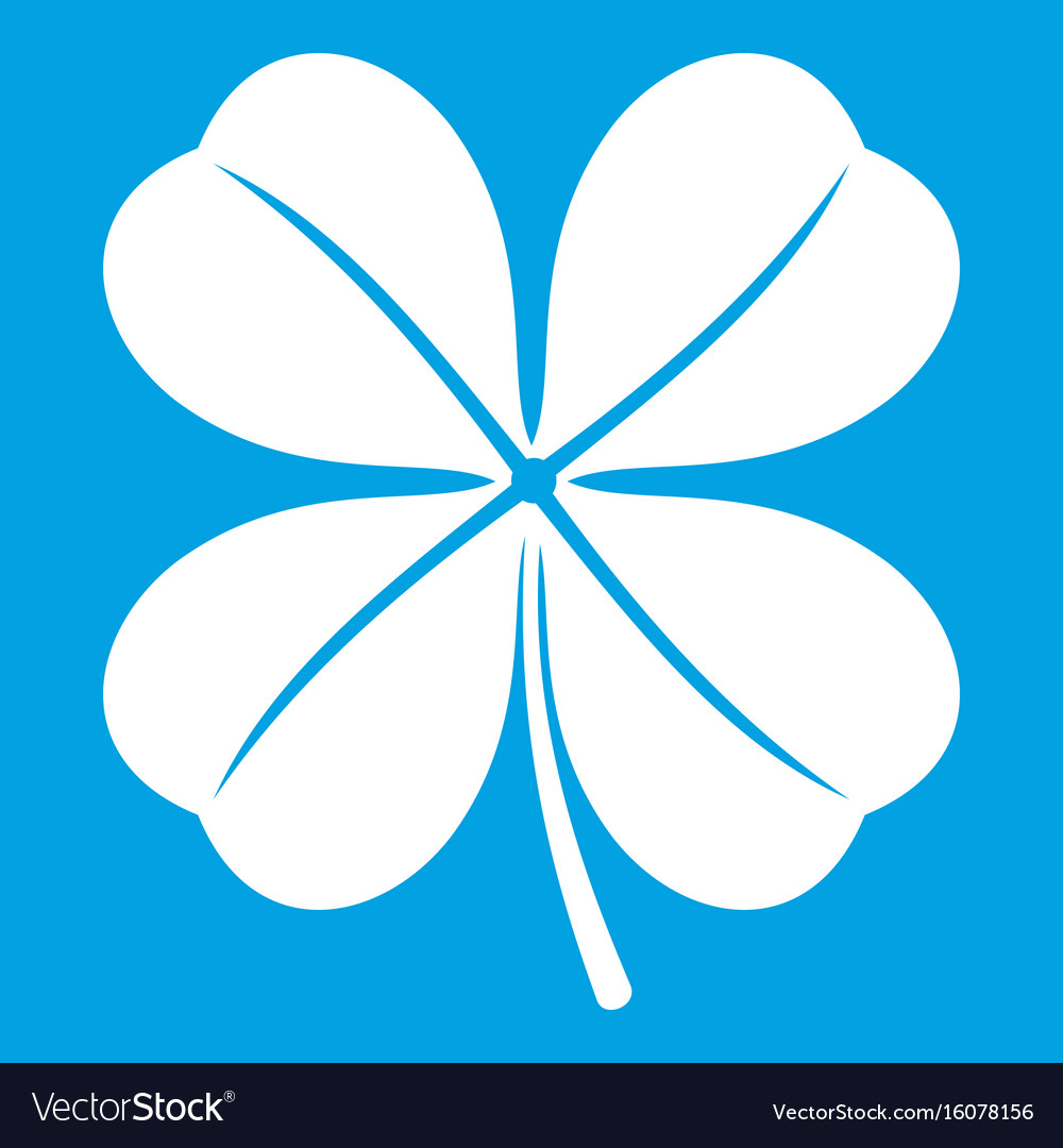 Clover leaf icon white vector image