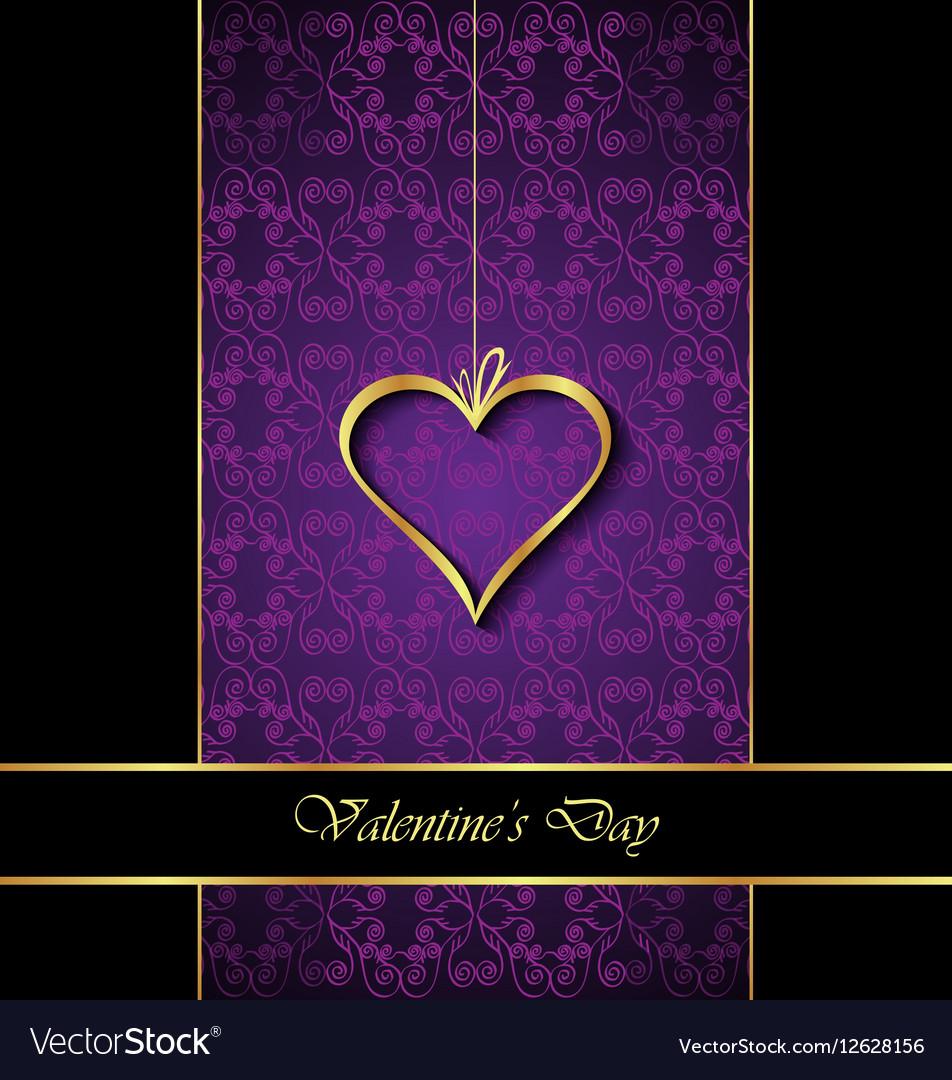 Elegant classic valentines day background