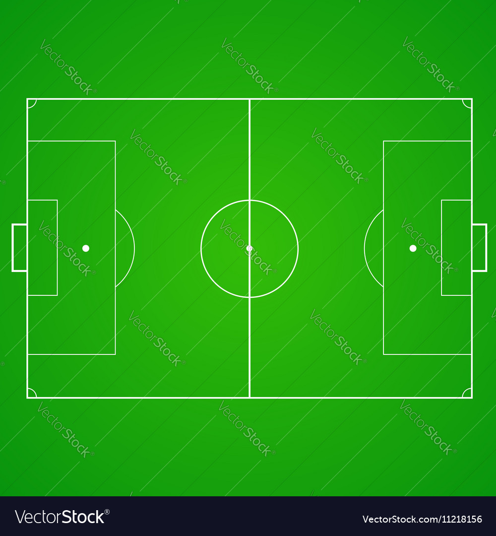 Football soccer realistic textured field vector image