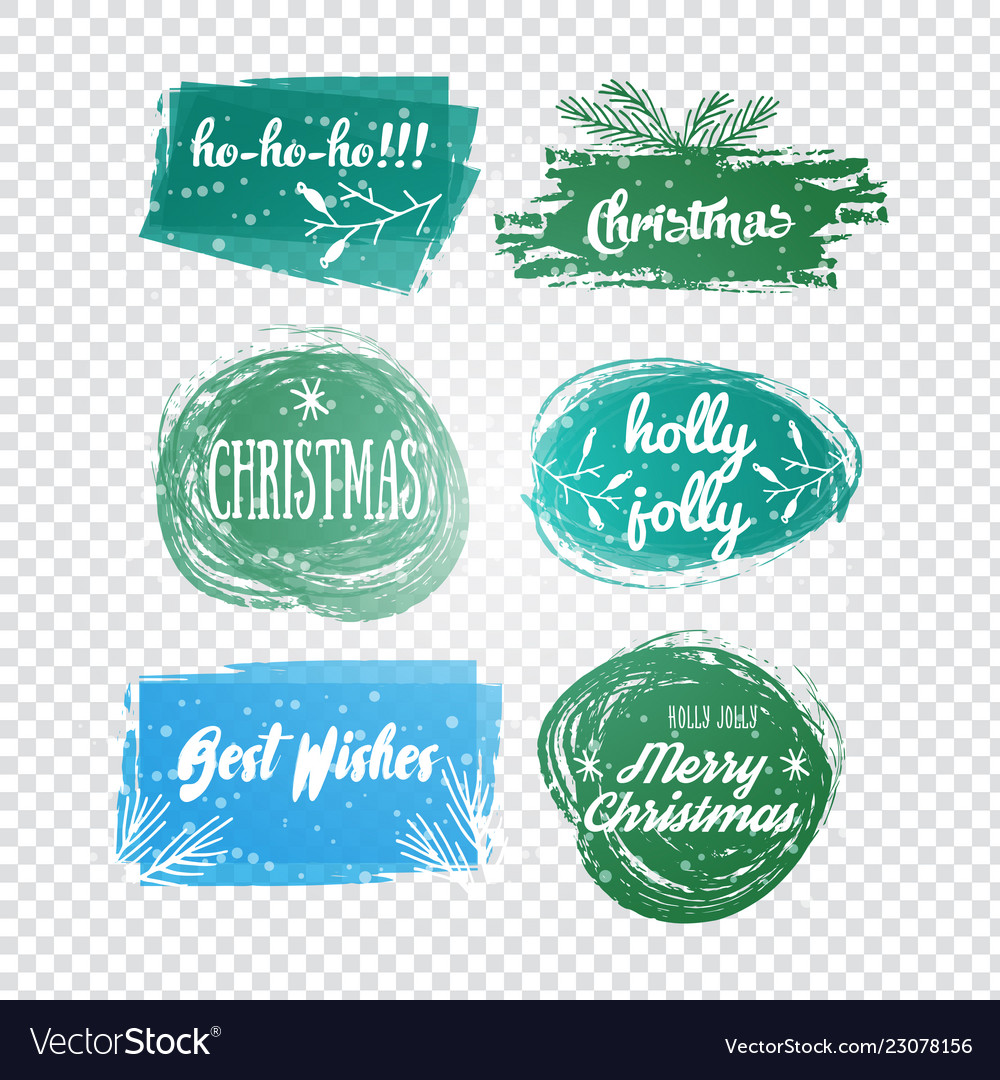 Labels with christmas and new years designs