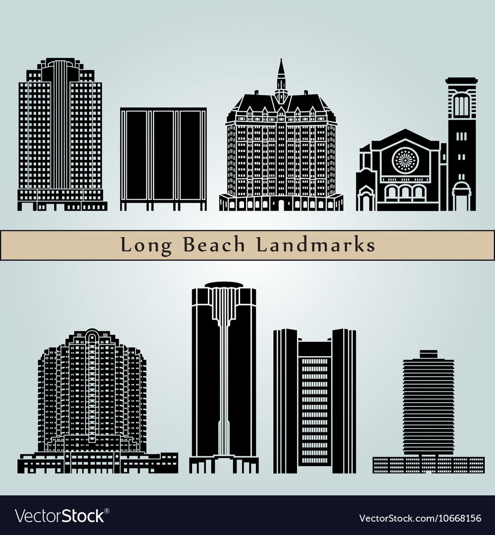 Long Beach Landmarkonument Vector Image