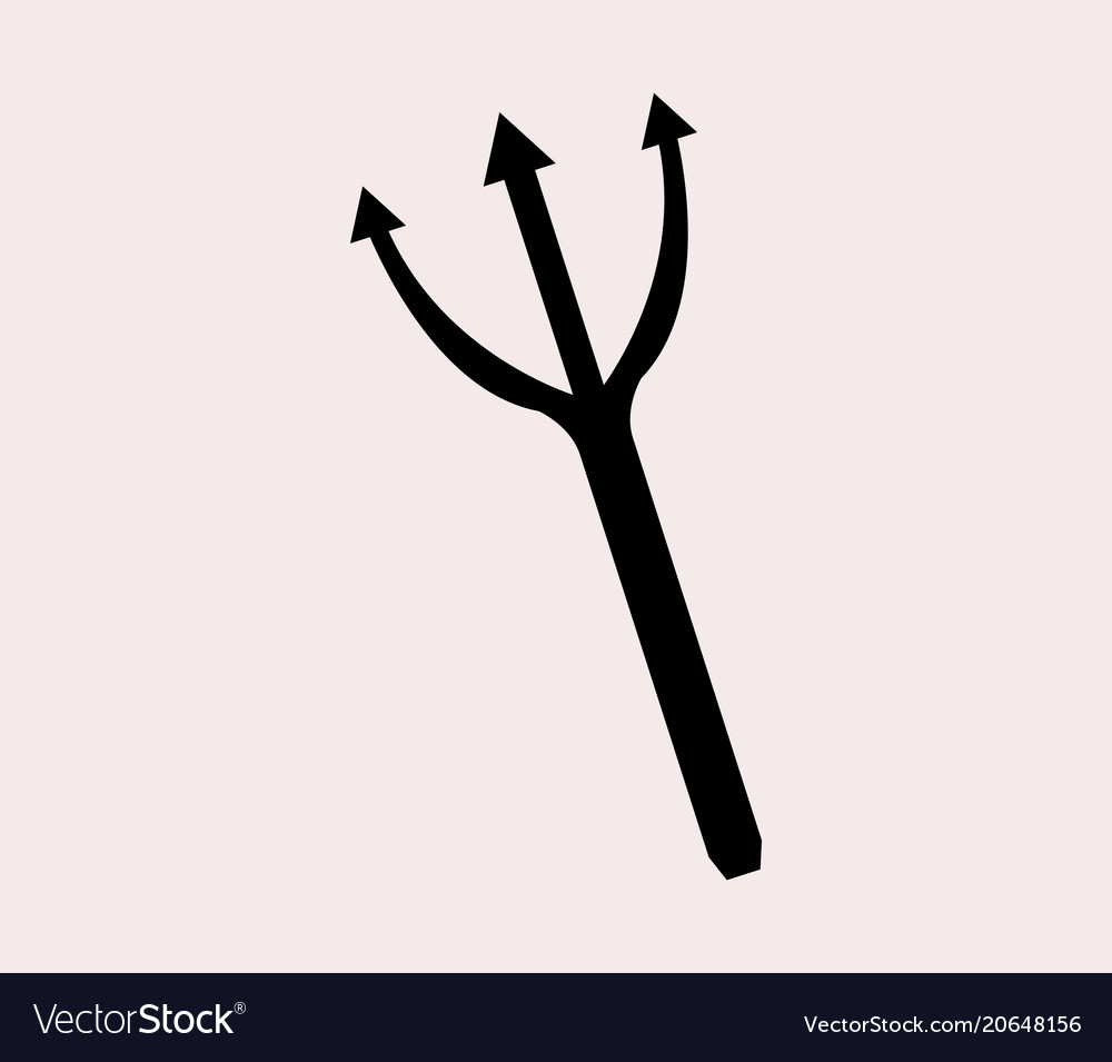 Pitchfork icon vector image
