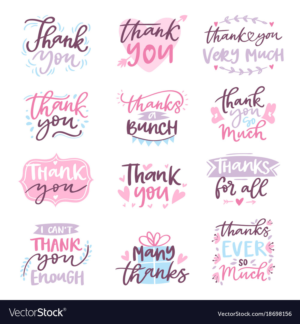 Thank you card text logo letter script royalty free vector thank you card text logo letter script vector image expocarfo Images