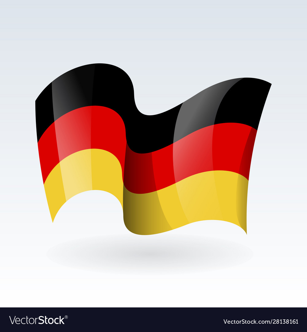 3d waving flag germany isolated on white
