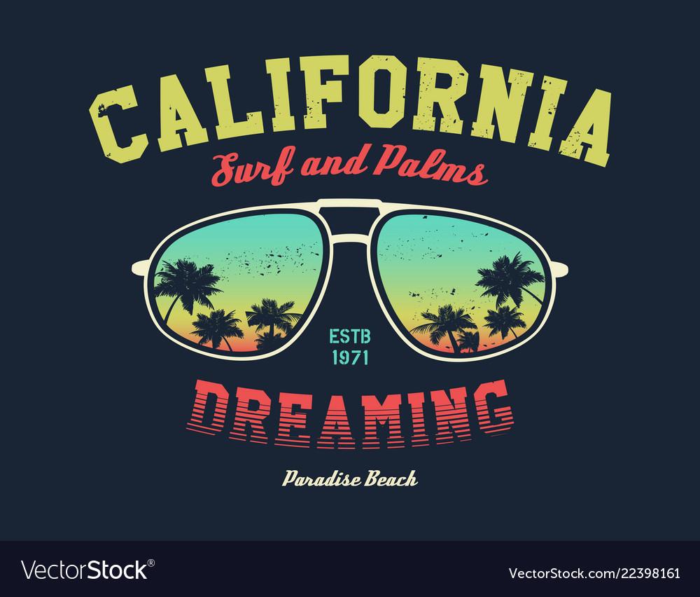 California surfer tee graphic