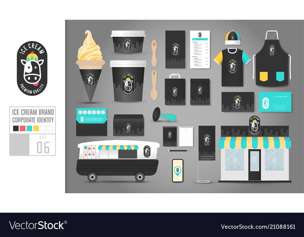 Corporate identity template set 6 logo concept