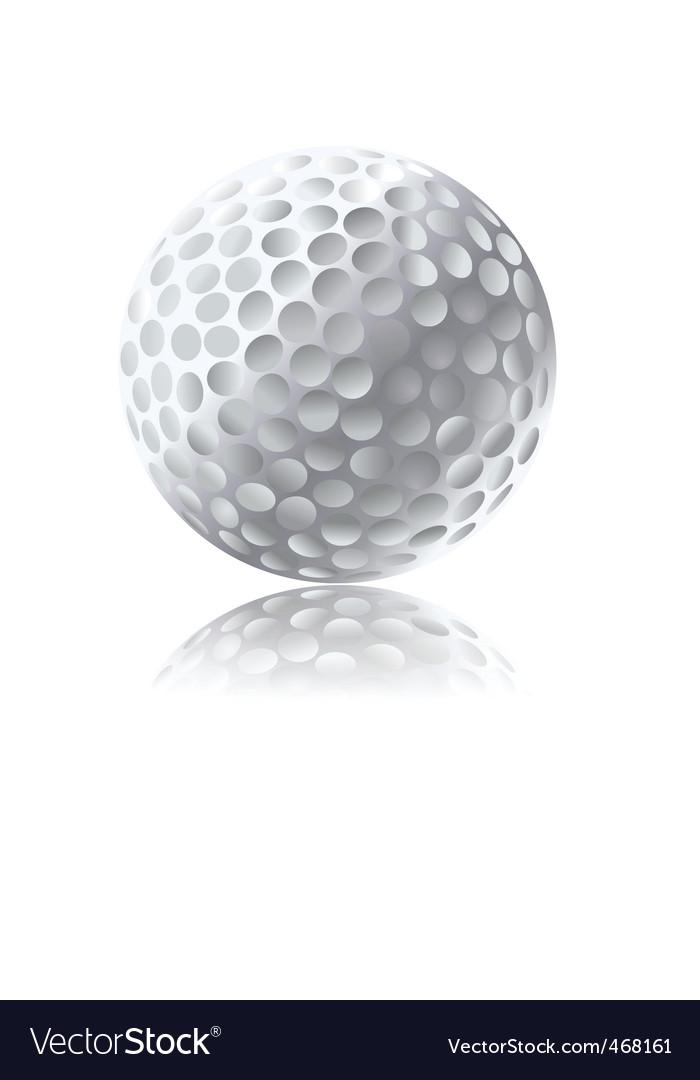golf ball royalty free vector image vectorstock