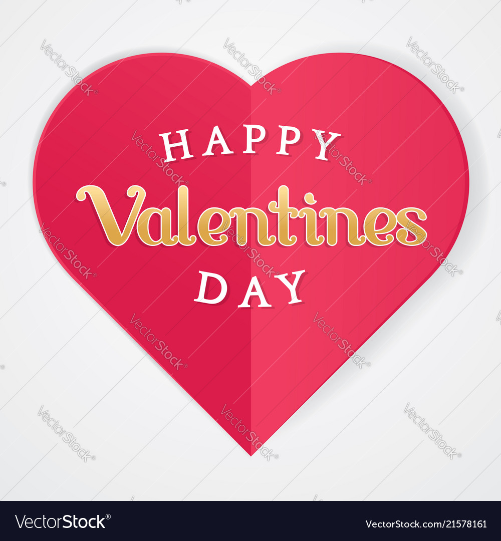 Happy valentines poster with heart symbol