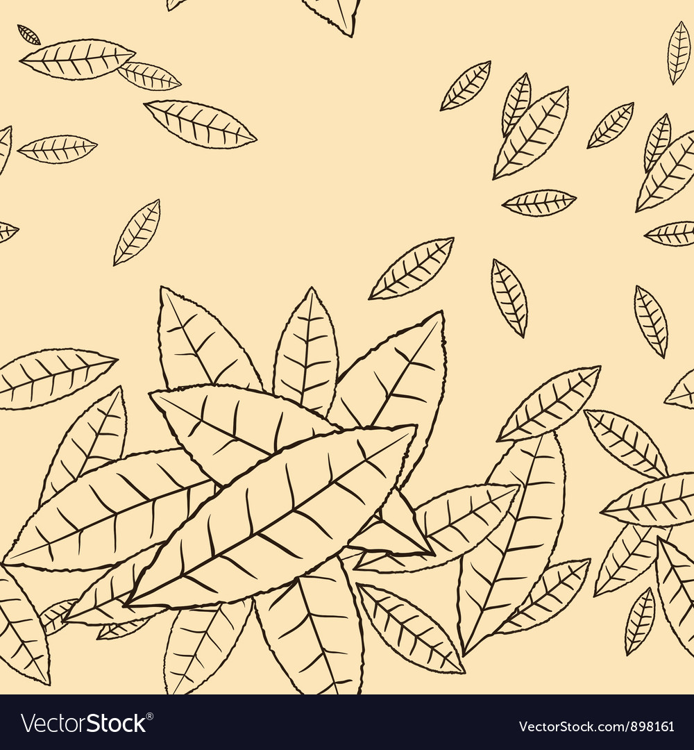 Pattern of fly leaves seamless background