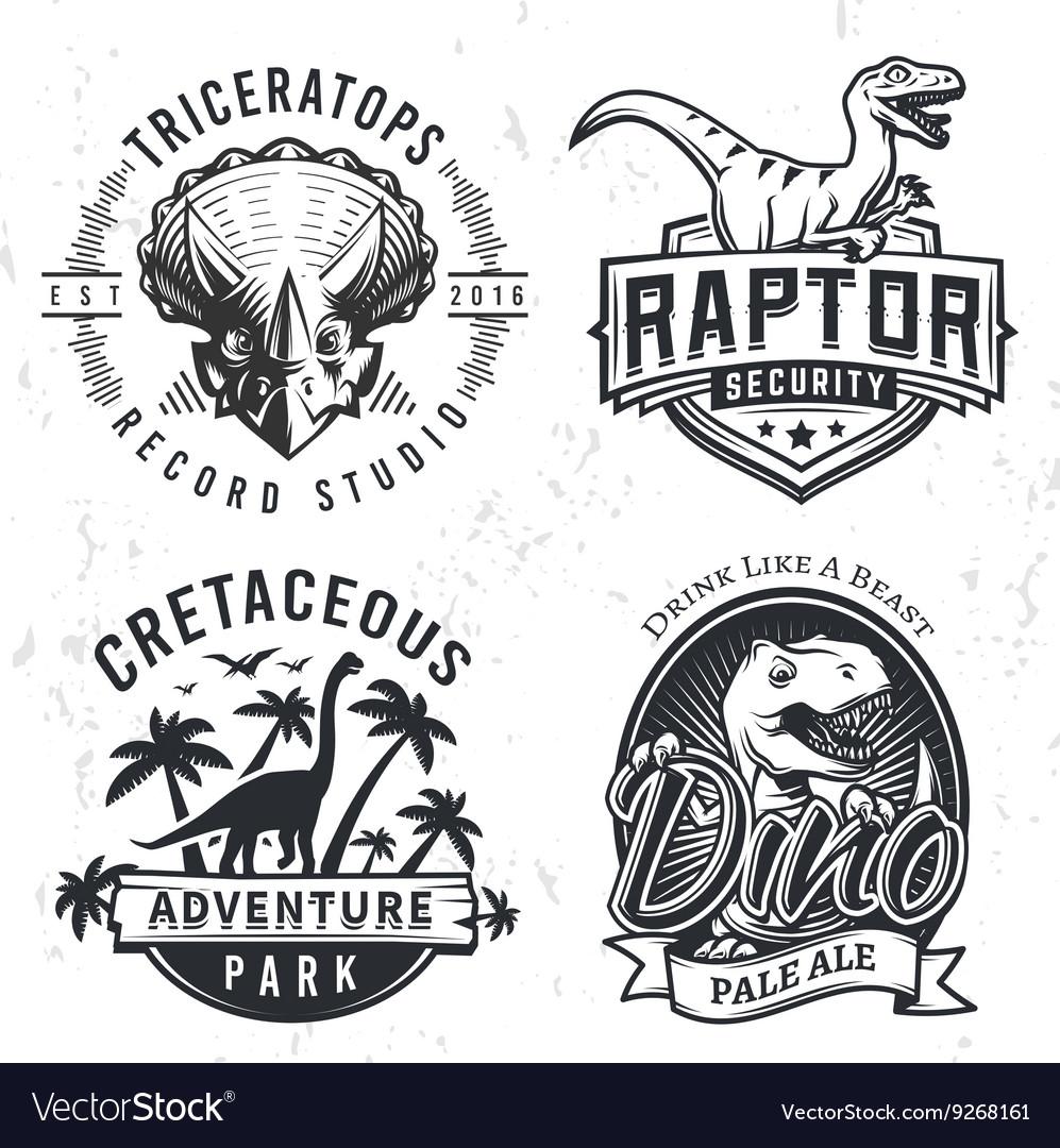 Set of Dino Logos Raptor t-shirt