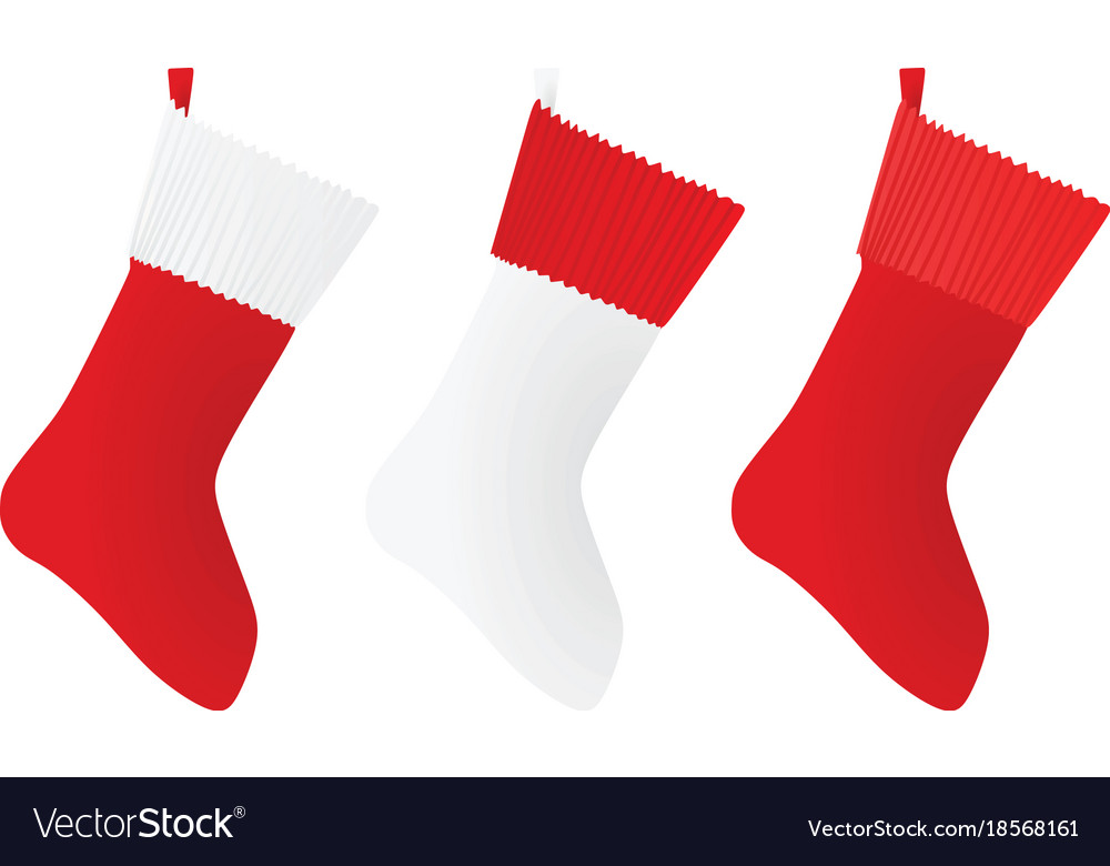 White and red christmas sock