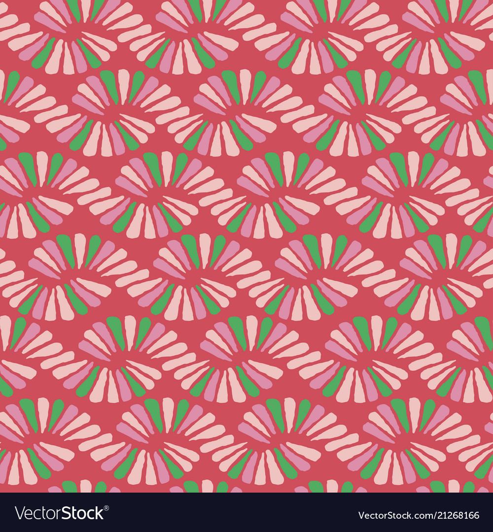 Abstract seamless nature ribbon pigtail red