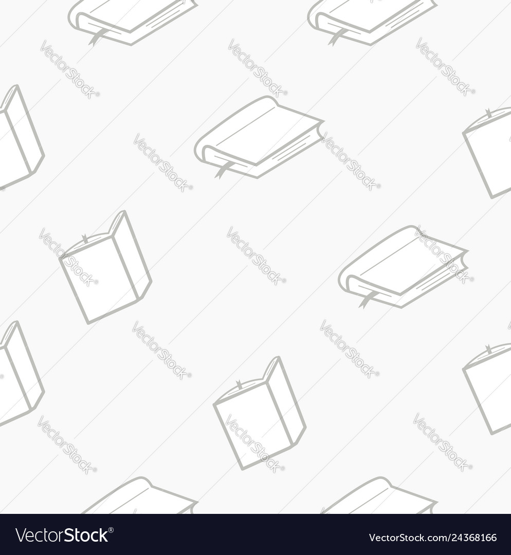Book seamless outline pattern