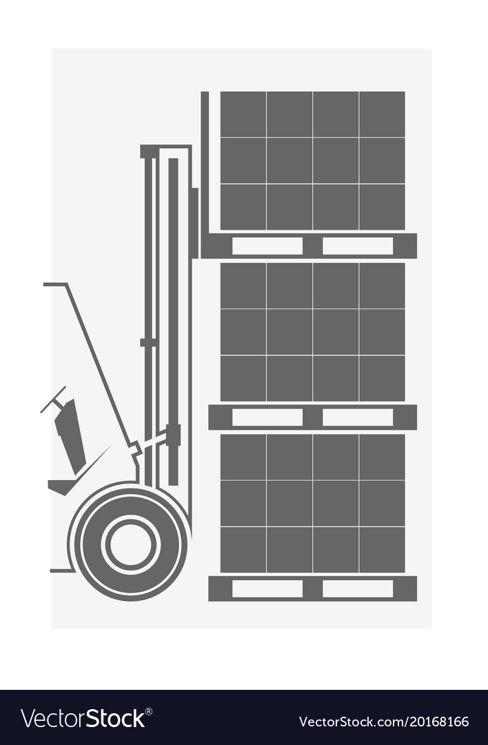 Forklift icon vector image