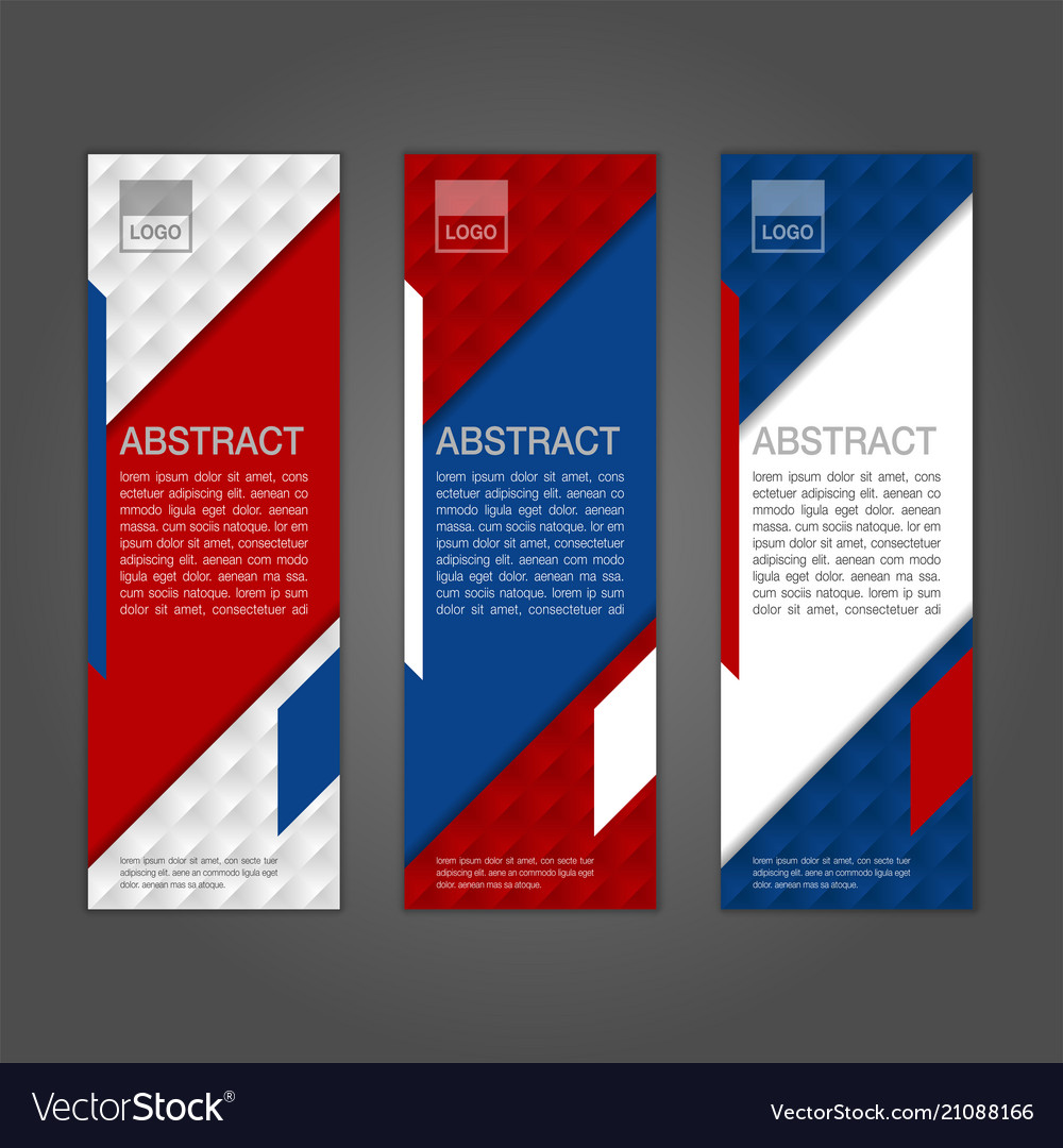 Geometric abstract banner background