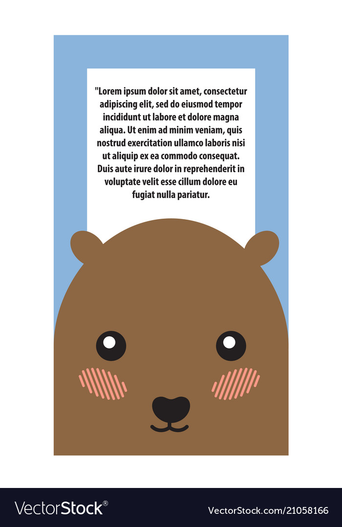 Hamster head book cover design vector