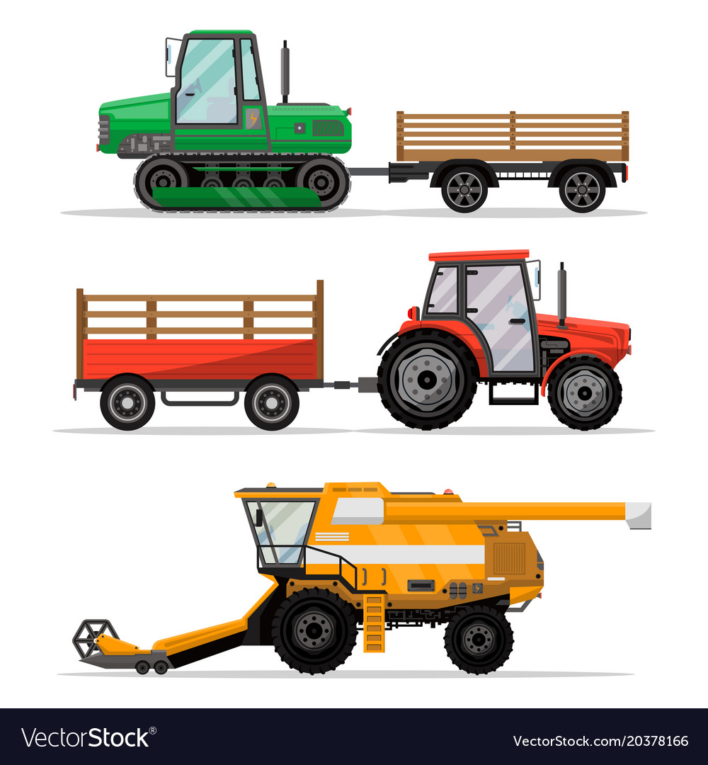 Heavy agricultural machinery for field work