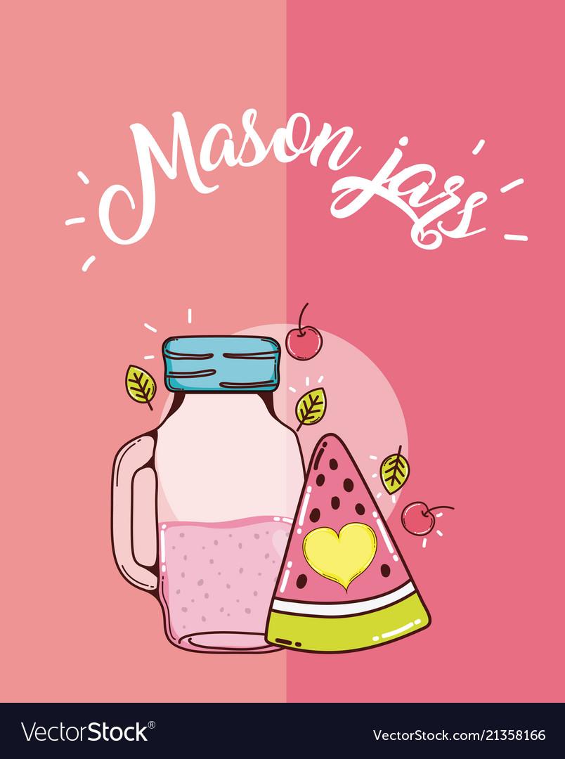 Mason jars juice