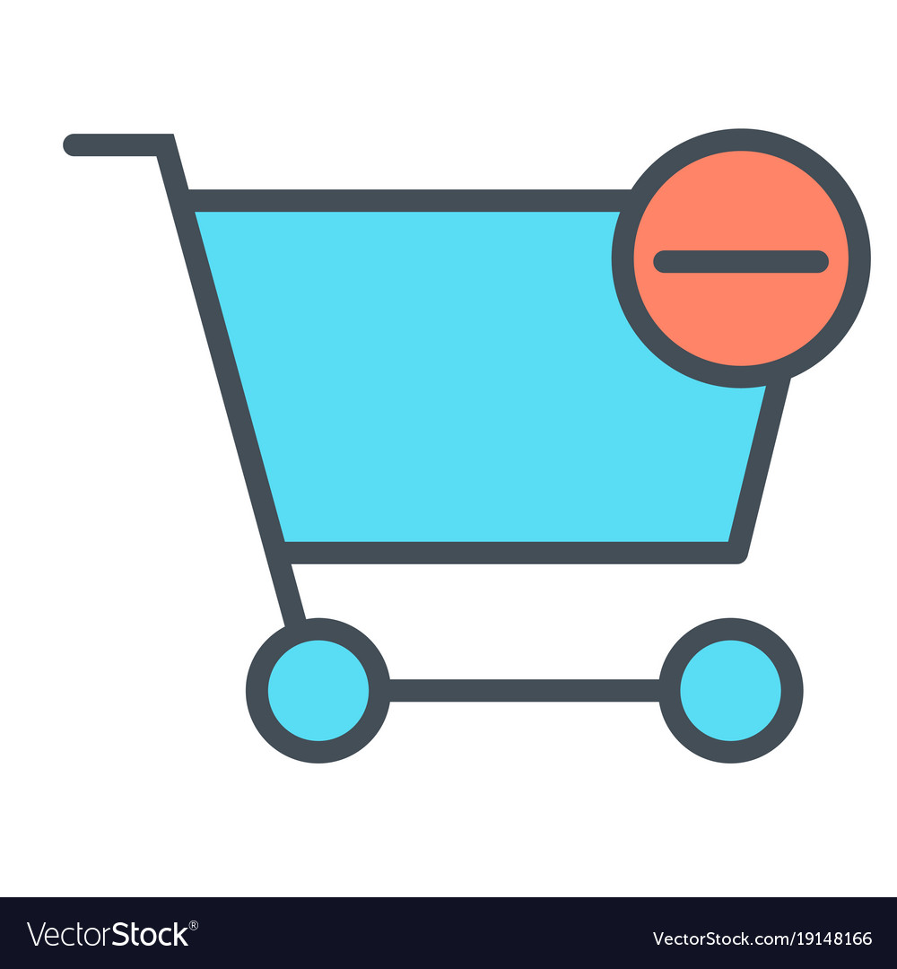 Remove items from shopping cart line icon 48x48