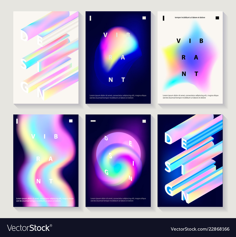 Set creative design posters