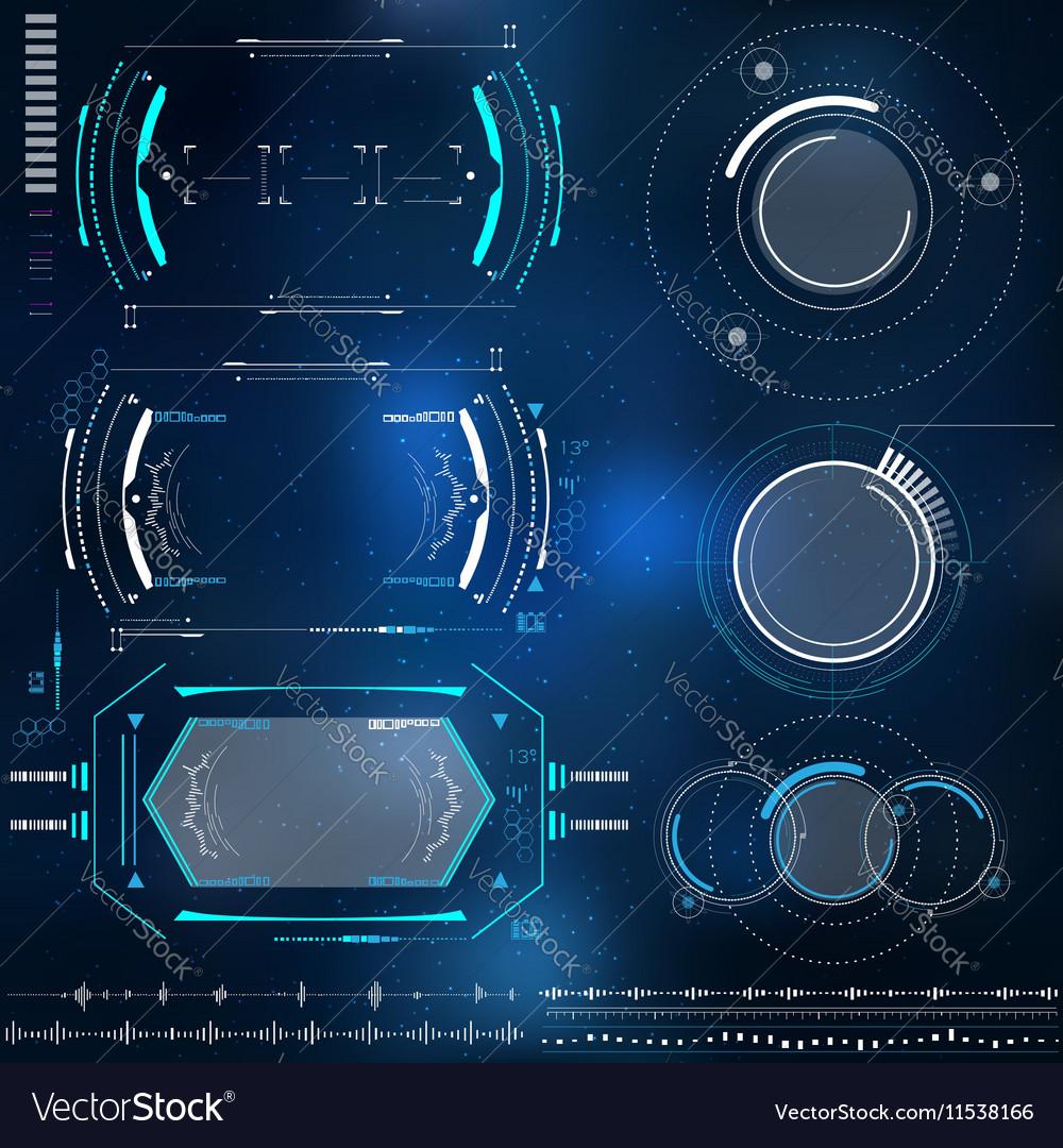 Technological HUD elements futuristic interface