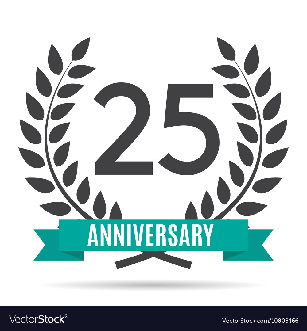 template logo 25 years anniversary royalty free vector image rh vectorstock com 25 years logo in marathi 25 years logo vector