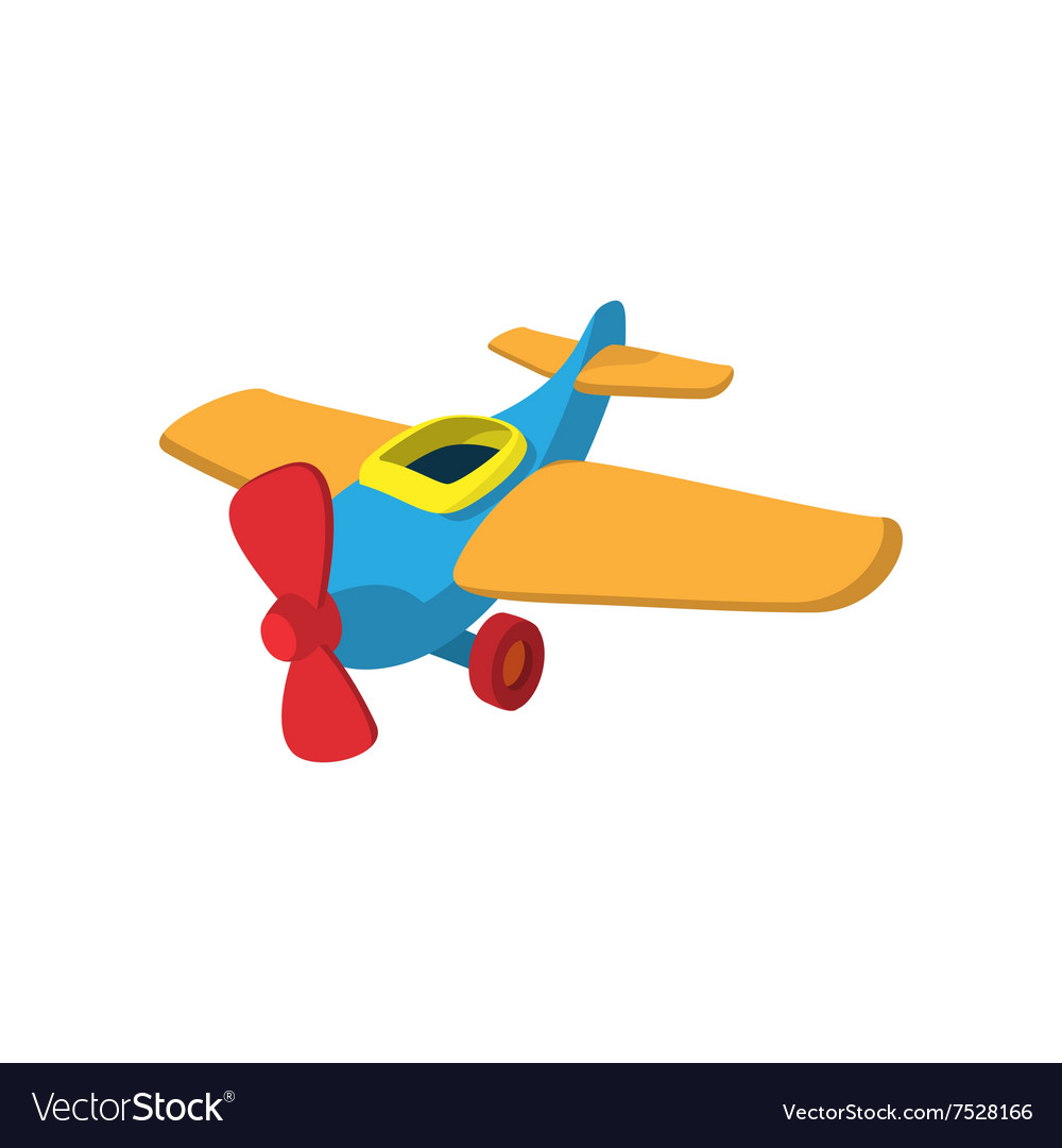 Toy Plane Cartoon Icon Royalty Free Vector Image